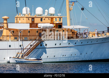 The Royal Yacht Dannebrog, Copenhagen, Denmark - Stock Photo