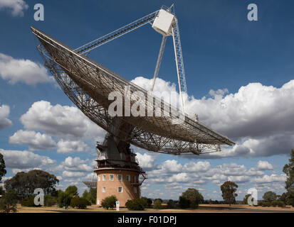 A Radio Telescope, near Parkes, in New South Wales, Australia - Stock Photo