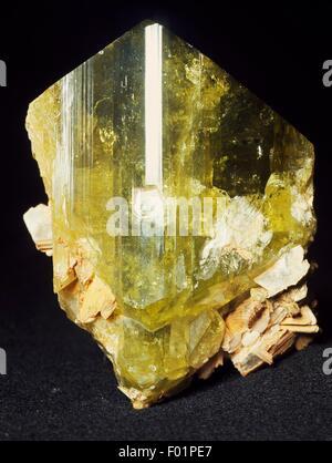 Brazilianite, phosphate. - Stock Photo