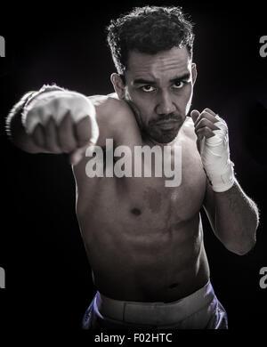 Portrait of a boxer - Stock Photo