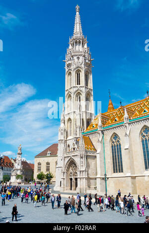 Matyas Templon, Matthias Church, Szentharomsag ter, Castle district, Buda, Budapest, Hungary - Stock Photo