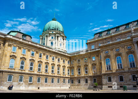 Inner courtyard, Budavari Palota, the Castle, Castle district, Buda, Budapest, Hungary - Stock Photo