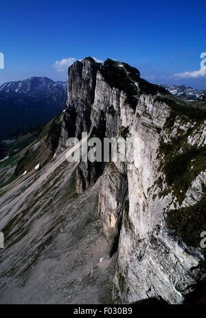 The summit of Loser Mountain, Styria, Austria. - Stock Photo