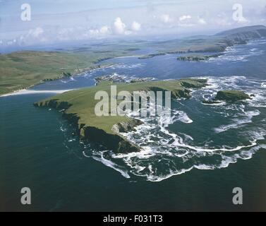 United Kingdom - Scotland - Shetland Islands. Aerial view - Stock Photo