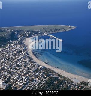 Italy - Sicily Region - San Vito lo Capo - Aerial view - Stock Photo