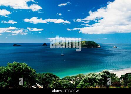 Hahei beach, Coromandel peninsula, North Island, New Zealand. - Stock Photo