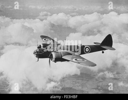 'Bristol' Blenheim Bomber. 'Bristol' Type 142M. Two 'Bristol' 840 h.p. Mercury engines. The first all-metal modern - Stock Photo
