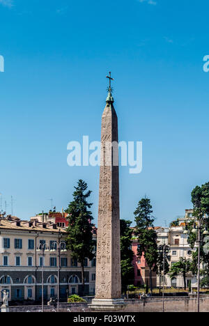 An Egyptian obelisk of Ramesses II from Heliopolis stands in the centre of the Piazza del Popolo.