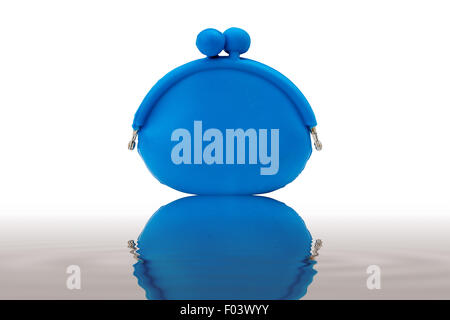 blue rubber bag isolated on white back with clipping path - Stock Photo