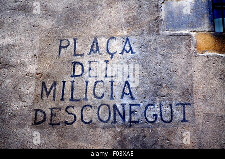 Graffiti in Barcelona - Stock Photo