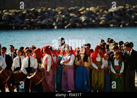 Boys and girls at the celebrations for National Sovereignty and Children's Day (April 23), Anamur, Turkey. - Stock Photo