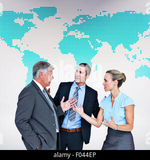Composite image of business people having a disagreement - Stock Photo