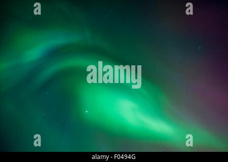Aurora Borealis or Northern lights, Iceland - Stock Photo