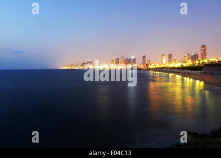A view of Tel-Aviv as seen from Jaffa. - Stock Photo