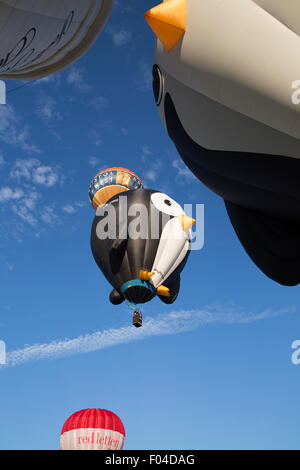 Ashton,UK,6th August 2015,Hot air balloons take off at the Bristol International balloon fiesta 2015 as it gets underwa Credit: Keith Larby/Alamy Live News