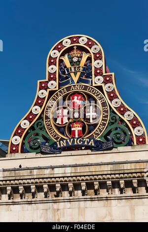 London Chatham Dover railway company logo Blackfriars Bridge London UK - Stock Photo