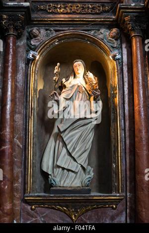 PANAMA CITY, Panama--Dating back to 1680, La Iglesia de la Merced stands in the heart of Casco Viejo, the historic - Stock Photo