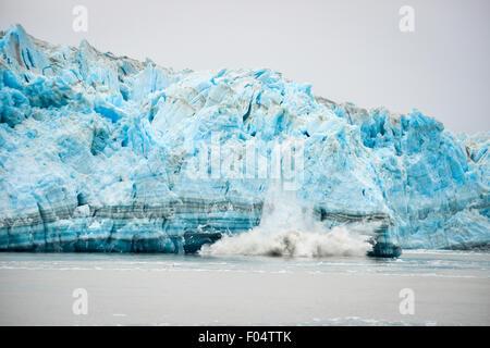 Hubbard Glacier Calving - Natural Phenomenon - Stock Photo