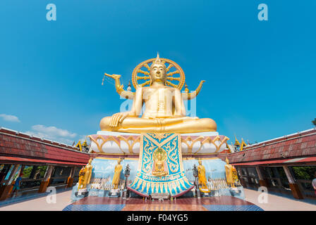 Big Buddha statue at the Wat Phra Yai Ko Pan Temple in Ban Bo Phut, Ko Samui, Thailand