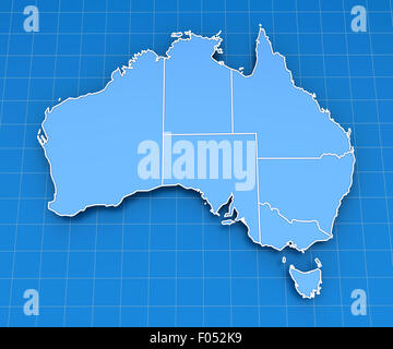 Map of Australia - Stock Photo