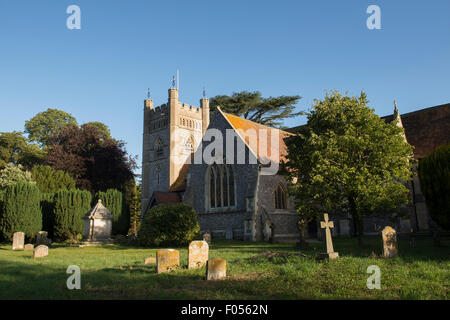 St Marys church, Hambleden, Buckinghamshire, England - Stock Photo