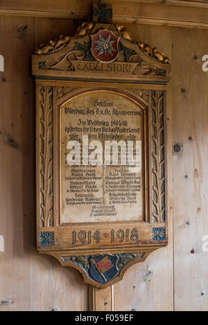 First World War, war memorial at the Vernagt Hut - Stock Photo