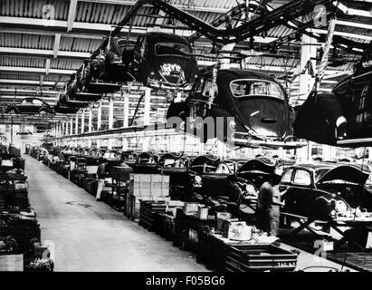 industry, car industry, production of the VW beetle, Sao Bernardo do Campo, 1970 20th century, 1970s, 70s, Sao Paulo, - Stock Photo