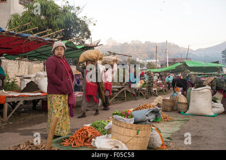 Town of Kalaw , Myanmar ( Burma ) - Stock Photo