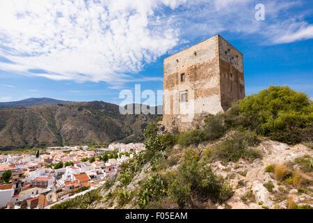 Velez de Benaudalla, Granada Province, Andalusia, southern Spain.  Castillo de los Ulloa.  Ulloa castle.  Local - Stock Photo
