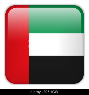 Vector - Emirates Flag Smartphone Application Square Buttons - Stock Photo