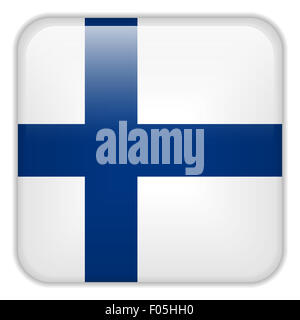 Vector - Finland Flag Smartphone Application Square Buttons - Stock Photo