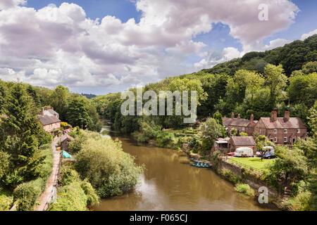 The River Severn at Ironbridge, Shropshire, England - Stock Photo
