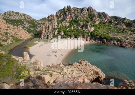 "Costa Paradiso, Sardinia, Italy: ""di li Cossi"" beach. - Stock Photo"
