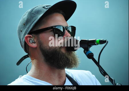 Mighty Oaks from Berlin live at the Festival 'A Summer´s Tale 2015'. Editorial use only. - Stock Photo