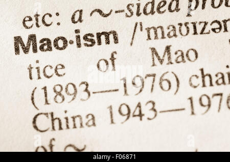Definition of word Maoism  in dictionary - Stock Photo