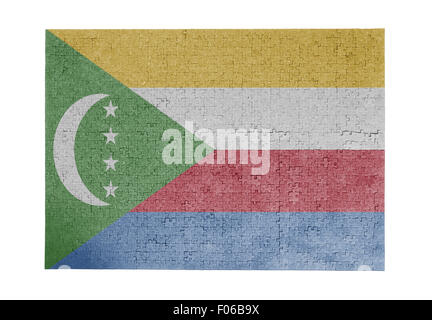 Large jigsaw puzzle of 1000 pieces - flag - Comoros - Stock Photo