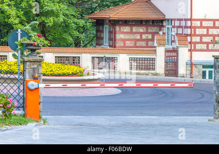 Security barrier for parking vehicles - Stock Photo