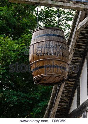 Southampton Hampshire  Medieval Merchant's House Barrel Wine - Stock Photo