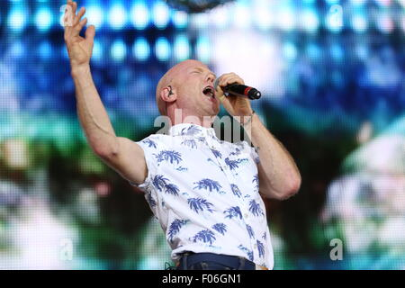 Macclesfield, Cheshire, UK. 8th August, 2015. Jimmy Sommerville performs live at Rewind Festival North. Credit: - Stock Photo