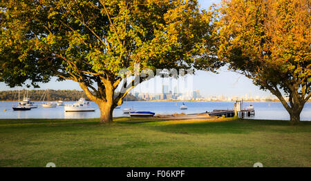 Matilda Bay Reserve on the Swan River. - Stock Photo