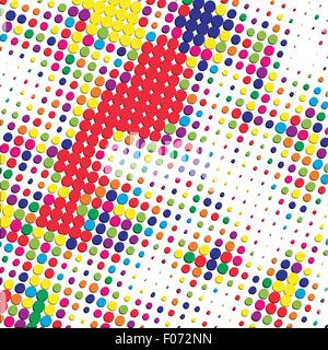 bright color halftone background vector illustration - Stock Photo