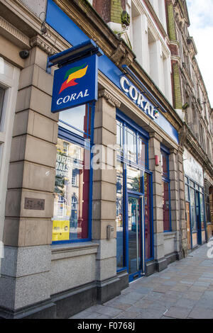 Coral betting shop on high street Wolverhampton Town Centre - Stock Photo