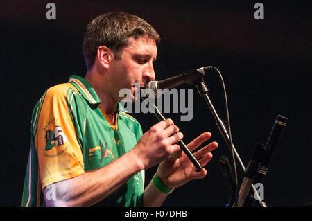 Belfast, Northern Ireland. 08 Aug 2015 - Irish band 'Rebel Hearts' play Feile an Phobail. Credit:  Stephen Barnes/Alamy - Stock Photo