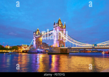 Tower Bridge, London, United Kingdom, Europe - Stock Photo