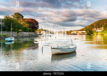 Boats on the river Tamar at Millbrook in Cornwall - Stock Photo
