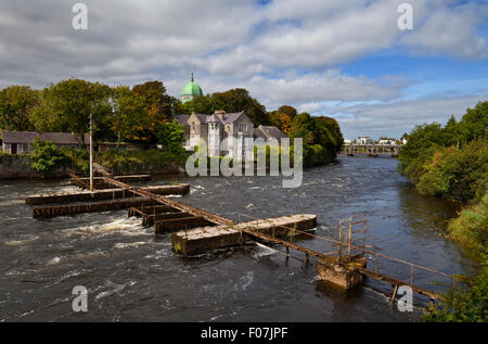 The Salmon Weir on the River Corrib, Galway City, Ireland - Stock Photo
