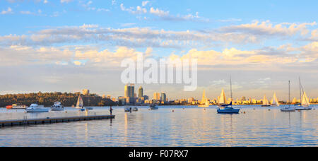 Matilda Bay Reserve on the Swan River - Stock Photo