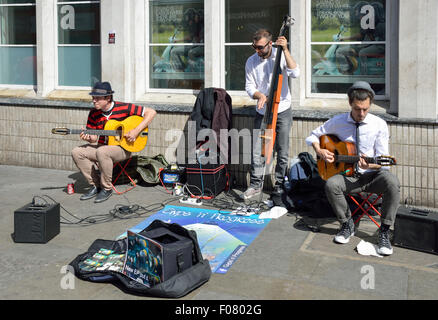 Street buskers performing in James Street, Covent Garden, West End, City of Westminster, London, England, United - Stock Photo