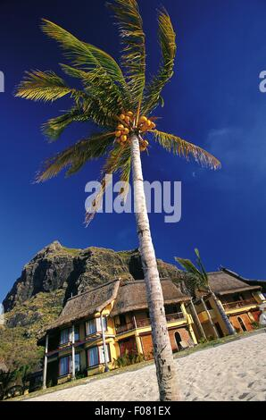 Hotel Dinarobin Golf and Spa in Le Morne Brabant in Mauritius, South Africa - Stock Photo