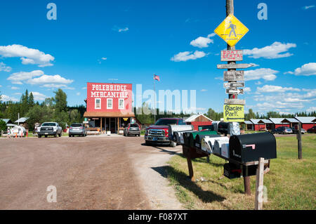 The small community of Polebridge on the edge of the Glacier National Park in Montana, USA. - Stock Photo